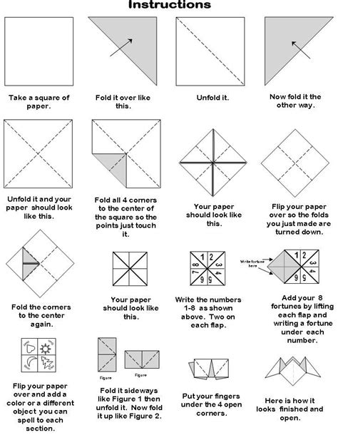 How To Make A Paper Fortune Teller Step By Step - 1000 ideas about paper fortune teller on