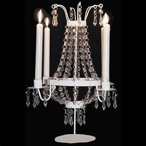 Chandelier Candle Holders Decorative White Candle Holder Chandelier Wedding Centerpiece Metal Acrylic Bead Ebay