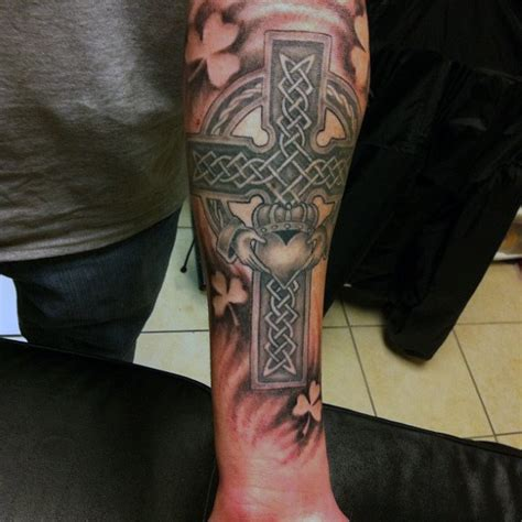celtic cross tattoos on forearm 50 claddagh designs for icon ink ideas