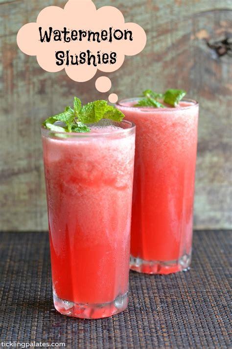 watermelon slushies recipe easy summer drink recipes