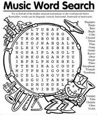 Music word search classroom pinterest