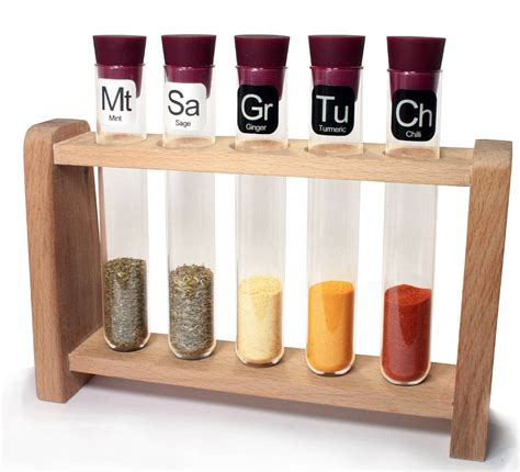 spice holder for scientific spice rack with spices by thelittleboysroom