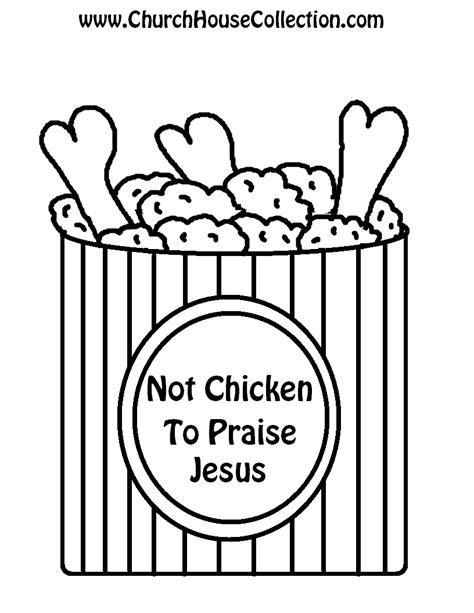 printable templates of jesus fried chicken black and white