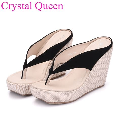 wedges shoes 2017 new womenhigh heels flip flops fashion