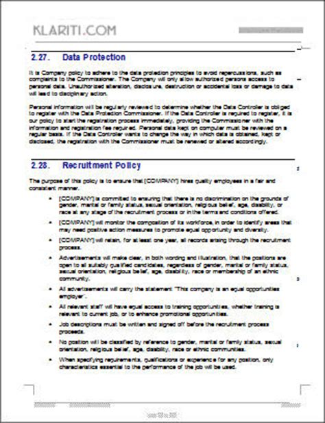 best photos of employee policy manual template