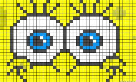 perler spongebob spongebob perler bead pattern tunisian crochet
