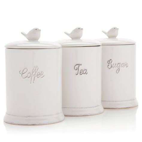 canisters extraordinary white tea coffee and sugar