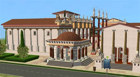 Modern Mansion Floor Plan mod the sims ancient world rome forum romanum