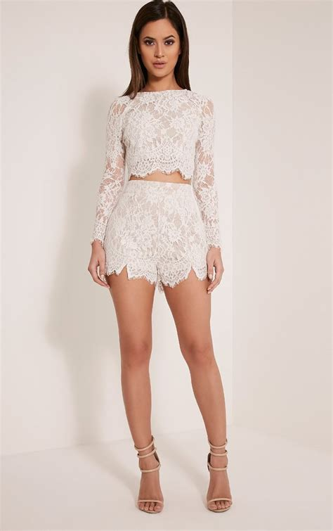 Lace Cropped Top best 20 white lace crop top ideas on lace