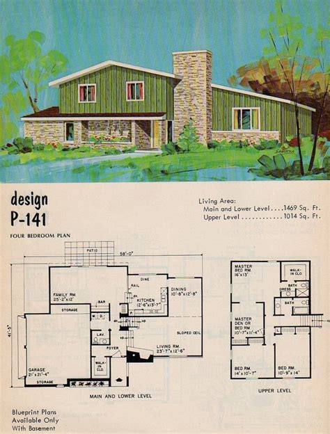 split level floor plans 1960s 17 best ideas about vintage house plans on pinterest