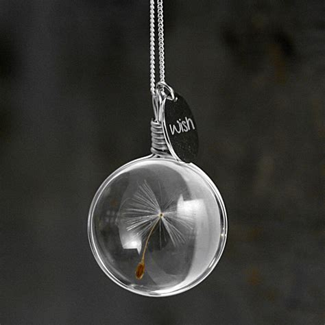dandelion wish necklace so that s cool