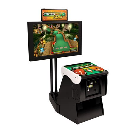 Ebel Patio Furniture Power Putt Golf Arcade Game With Stand Aminis