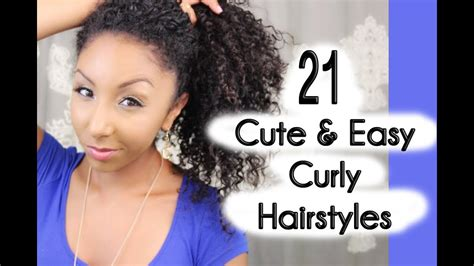cute  easy curly hairstyles biancareneetoday