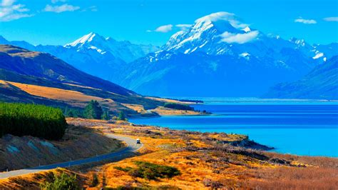 computer wallpaper nz lake pukaki new zealand desktop wallpaper hd