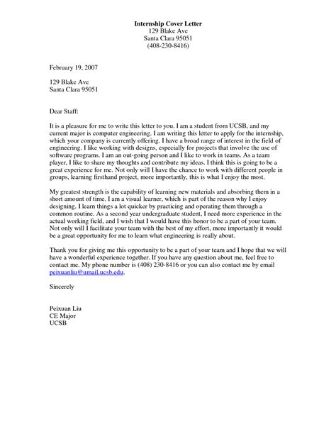 Amazing Cover Letter For Internship Examples   Simple