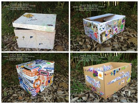 How To Decorate A Box by Free Friday Supplies Box Imagine Make Believe