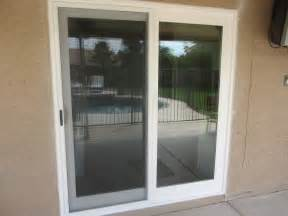 Sliding French Patio Doors With Screens white french rail door with sliding screen door