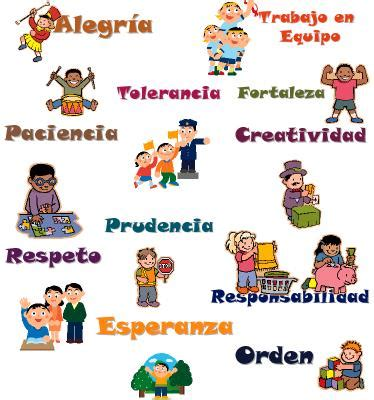 imagenes infantiles que representen los valores excelente glosario de valores animados material primaria