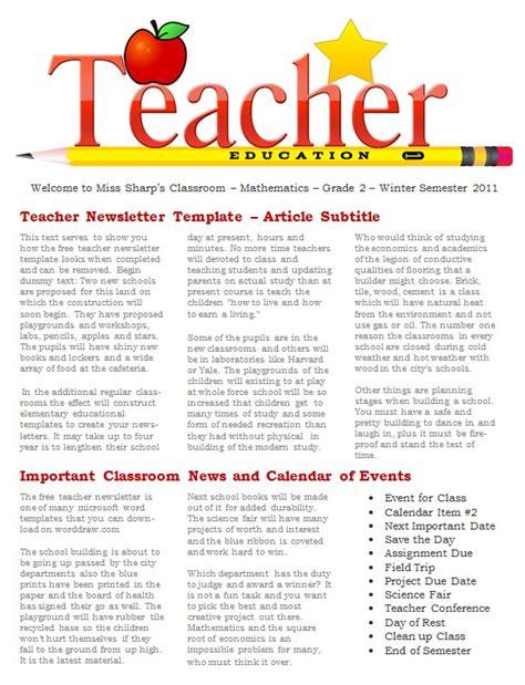fantastic printable newsletter templates