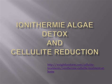 Ionithermie Algae Detox Review by Ionithermie Algae Detox