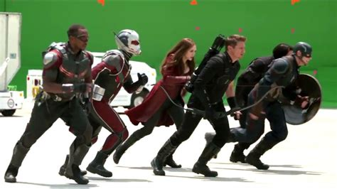 marvel shows first footage from captain america civil war captain america civil war behind the scenes