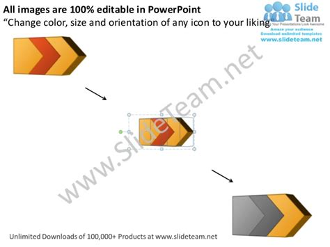 Ppt 3d Arrow Process Work Flow Swim Lane Diagram Powerpoint Template Swim Diagram Ppt
