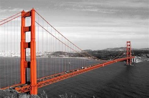 color of golden gate bridge golden gate black white