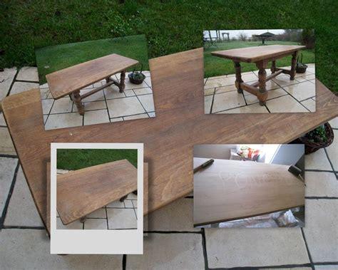 Moderniser Table Basse En Bois by Transformation D Une Vieille Table Basse En Bois Massif