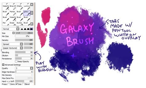 paint tool sai 1 1 0 brushes and textures brush settings