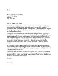 Cover Letter For Education by Physical Education Cover Letter