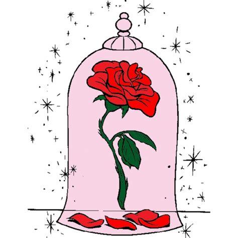 immagini di la e la bestia disegno di la rosa della e la bestia a colori per