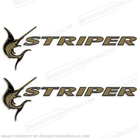 thompson boat decals seaswirl striper boat logo decals gold set of 2