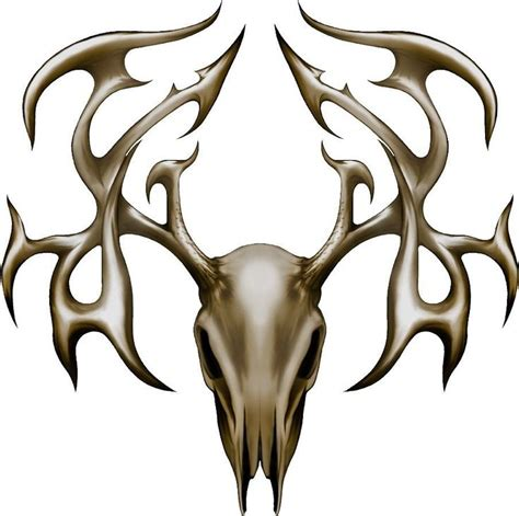 deer buck head tribal skull hunting board game