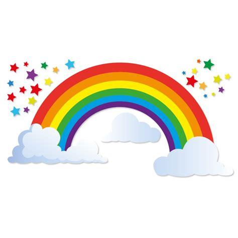 sticker arc en ciel et 233 toiles et nuages pour enfants par d 233 cor 233 c 233 bo