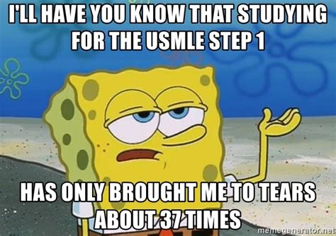 Usmle Meme - i ll have you know that studying for the usmle step 1 has
