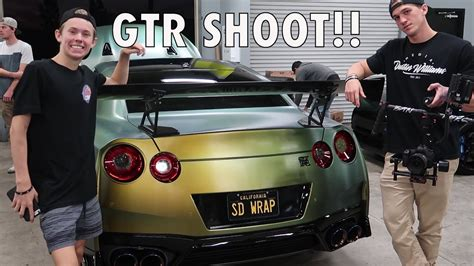 nissan gtr wrapped tanner fox shooting tanner fox s 2017 gtr reveal youtube