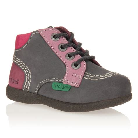 Chaussures Fille by Kickers Bottillons Babystan Chaussures B 233 B 233 Fille Gris Et Violet Achat Vente Slip On Cdiscount