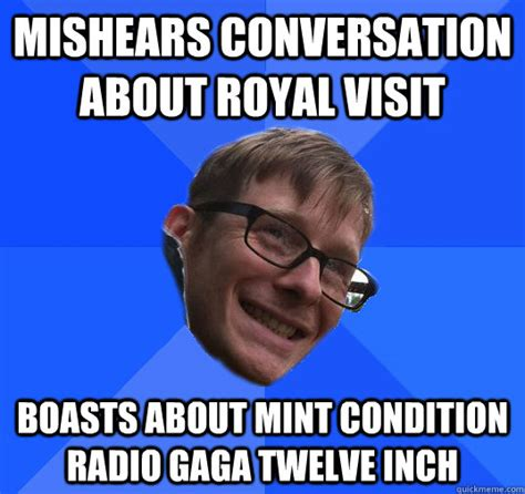 Meme Conversation - mishears conversation about royal visit boasts about mint