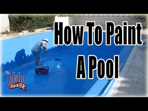 how much is a can of paint how to paint a pool painting pools with chlorinated