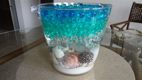 Water For Vases by Water Bead Vase With Seashells Water Design