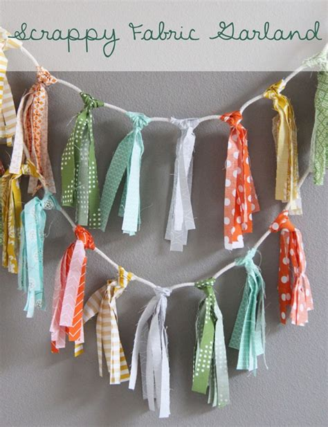 pattern for fabric garland scrappy fabric garland cluck cluck sew