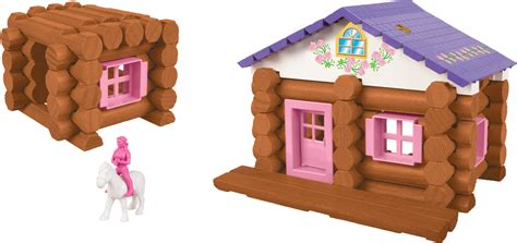 lincoln logs pink lincoln logs country meadow cottage 137 pieces education