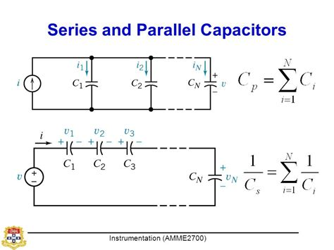 capacitor in parallel vs series instrumentation dr xiaofeng wu ppt
