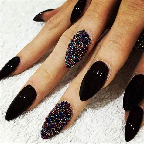 nail and nail 50 boldest black nail designs to stand out of the crowd