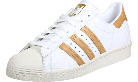adidas superstar 80s shoes white gold