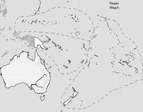 Oceania Outline Map Blank by Blank Map Physical Oceania