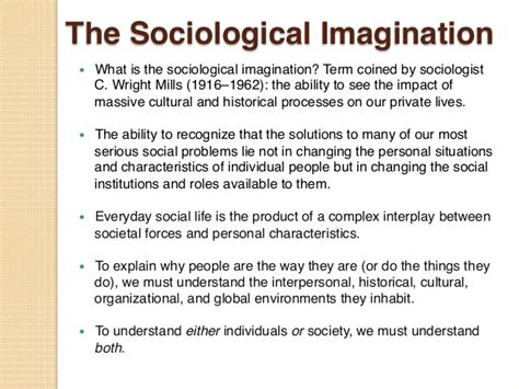 Social Imagination Essay by C Wright Mills Essay The Sociological Imagination