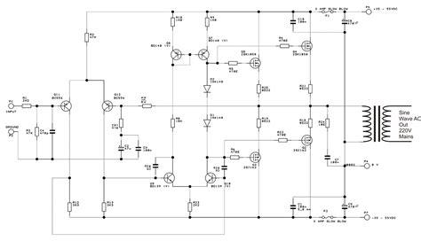 inverter oscillator circuit diagram digital modified sine wave inverter circuit 250 watts