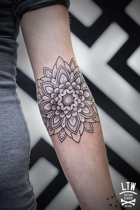 geometric tattoo elbow 17 best ideas about floral mandala tattoo on pinterest