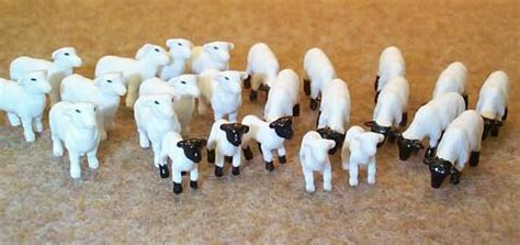 sheep rubber sts 12743c 1 64 sheep lambs 25 pc toys